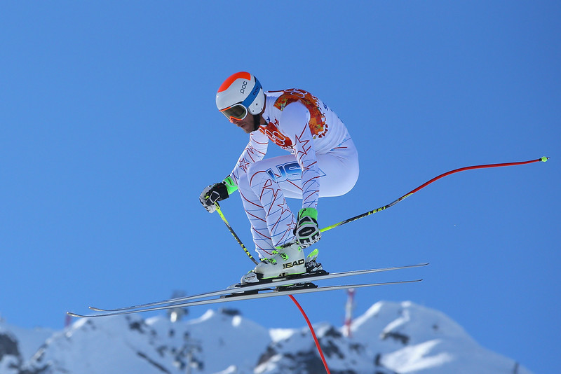 . Bode Miller of the United States competes during the Alpine Skiing Men\'s Super Combined Downhill on day 7 of the Sochi 2014 Winter Olympics at Rosa Khutor Alpine Center on February 14, 2014 in Sochi, Russia.  (Photo by Doug Pensinger/Getty Images)