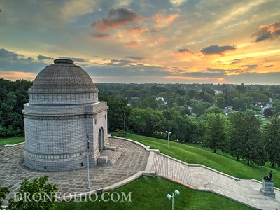 The McKinley Monument sunrise - Canton, Ohio