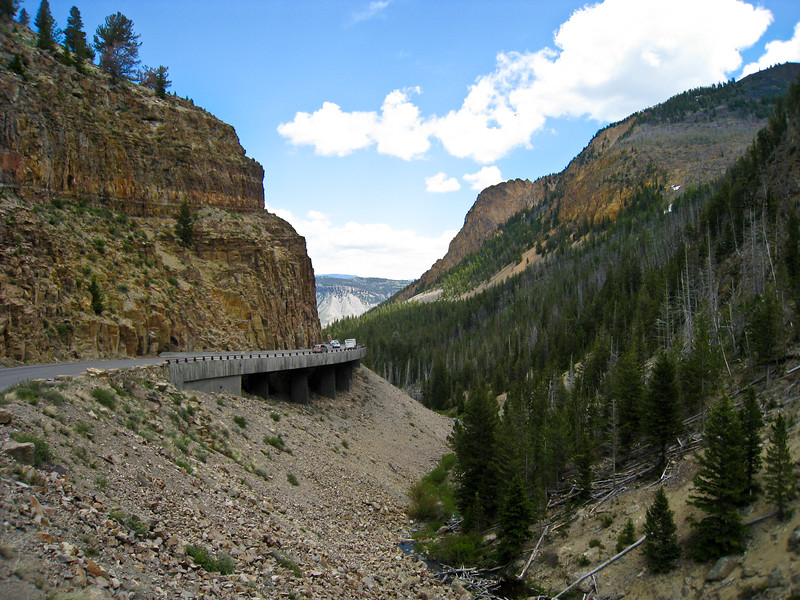 Kingman Pass near Rustic Falls on the Grand Loop Rd between Norris and Mammoth