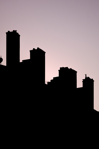 Chimney silhouettes in Lyon