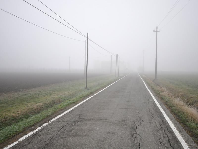 Morning Fog - Via Guercinesca Est, Nonantola, Modena, Italy - January 19, 2010