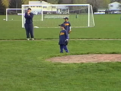 Sean at Baseball Practice