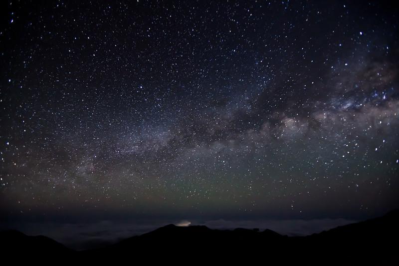 Milky Way above Haleakala Crater, Maui, Hawaii
