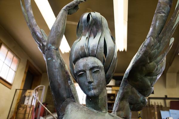 Sculptor Mary Eldredge