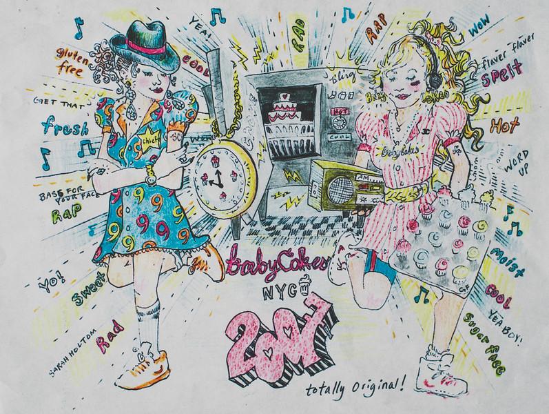 Babycakes Album cover art from 2007