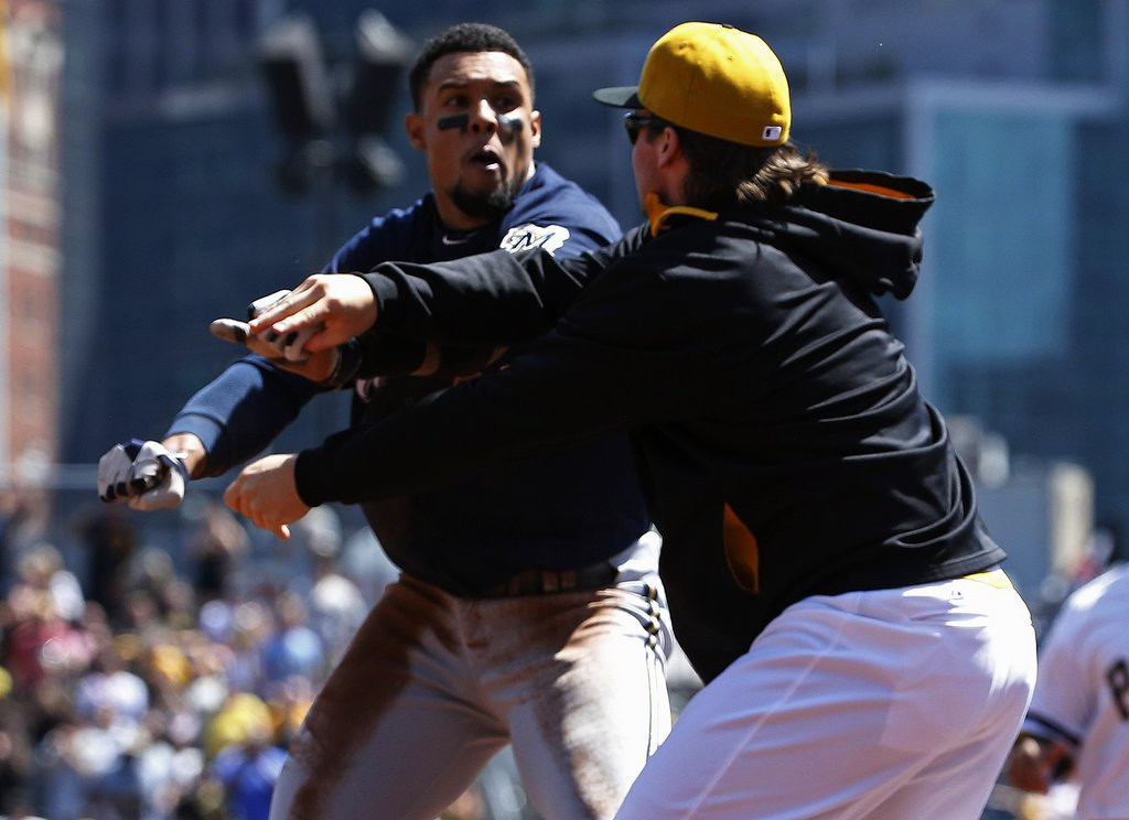 ". <p>6. CARLOS GOMEZ <p>Still crazy after all these years. (unranked) <p><b><a href=\'http://www.twincities.com/sports/ci_25607143/carlos-gomez-former-twin-wont-apologize-brawl\' target=""_blank\""> LINK </a></b> <p>   (AP Photo/Gene J. Puskar)"