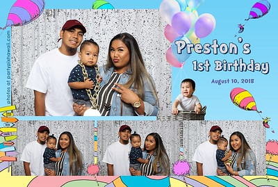 Preston's 1st Birthday (Mini Open Air Photo Booth 2)