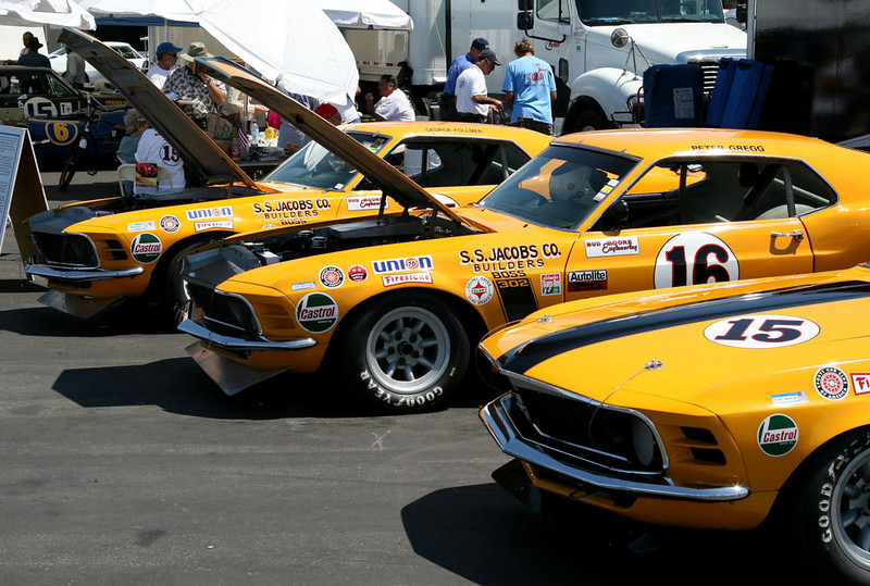 In order, '69, '70 and '69 Boss 302s.
