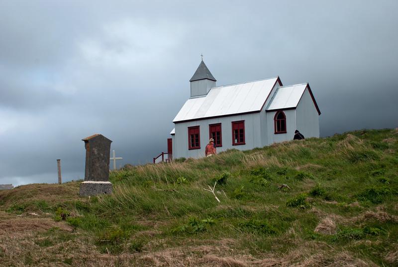 Aðalvík - Staður. Staðarkirkja. 2011. Kirkjan að Stað í Aðalvík