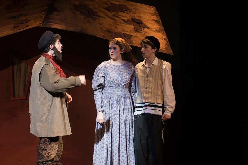 "Tevye, Tzeitel, and Motel , ""Tevye's Monologue"" --Fiddler on the Roof, Montgomery Blair High School, April 24, 2015"