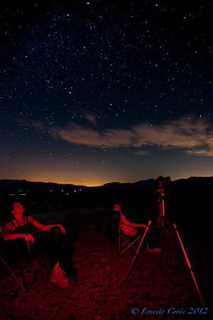 Perseid Meteors Aug 2012 at Borrego Springs