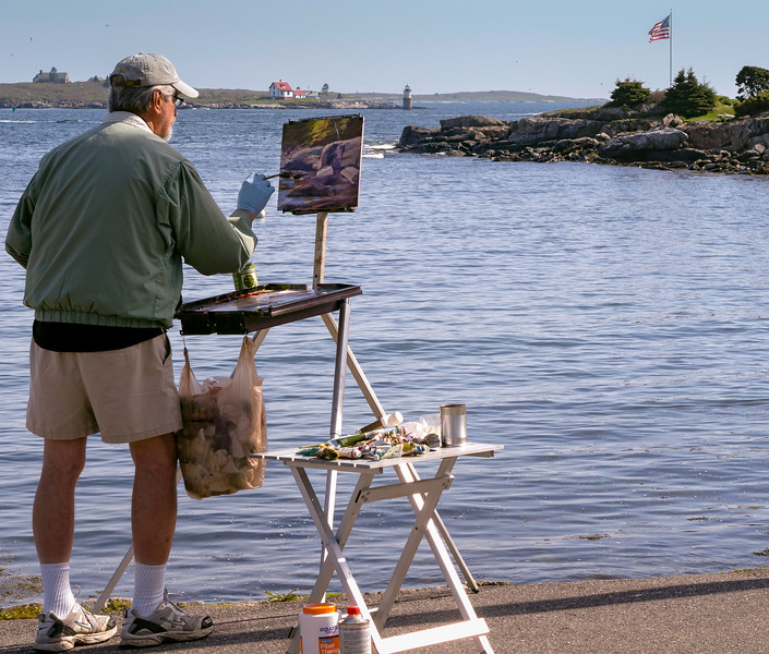 Painter at Work, East Boothbay, Maine (12939)