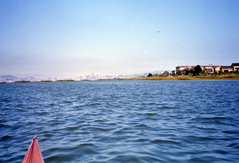 Rounding the south end of Alameda Island, and the city of San Francisco comes into view.