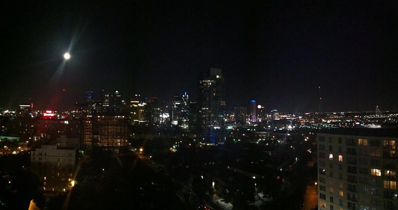 Full moon over Dallas, Texas