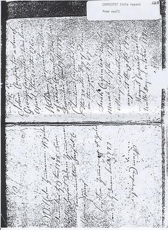 Adam Carpenter Bible