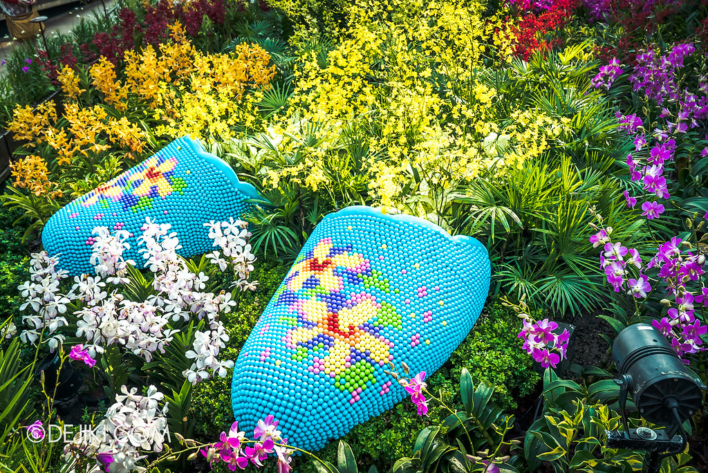Gardens by the Bay - Orchid Extravaganza 2018 / Beaded Shoes