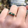 .45ctw Victorian 5 Stone OEC and Emerald Band 3