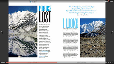Paradise Lost - The Green Lakes of Kangchenjunga March 2016