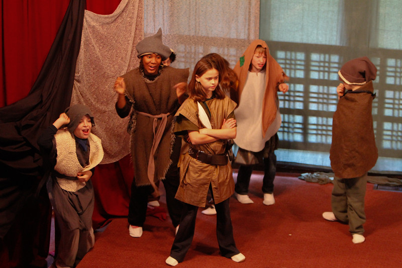 r's class performing norse myths.  photo taken by Richard Saada.