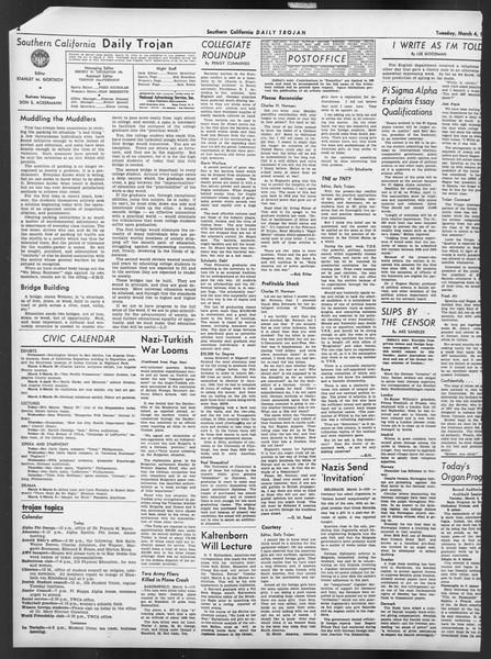 Daily Trojan, Vol. 32, No. 93, March 04, 1941