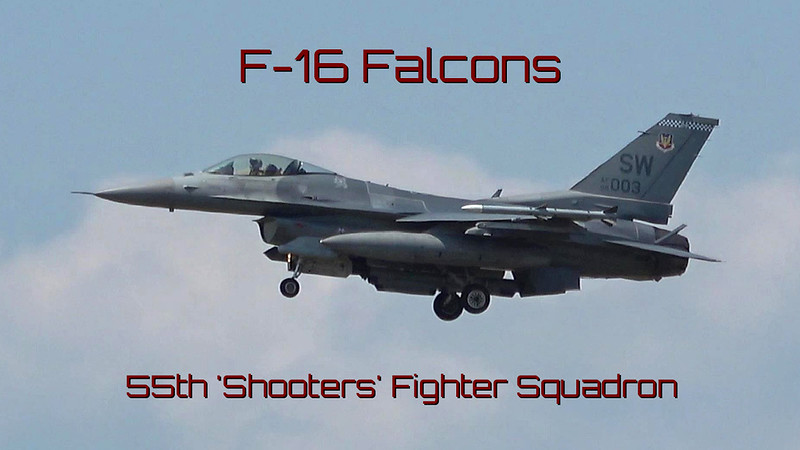 F-16 Falcons - 55th 'Shooters' Fighter Squadron