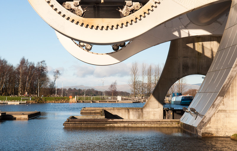 Falkirk Wheel canal boat lift