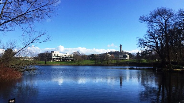 View of the grounds around Stirling University