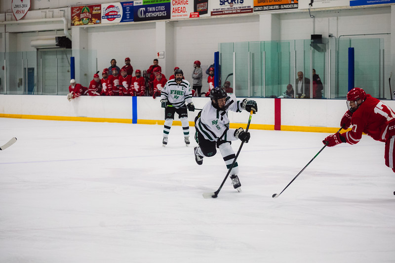 Holy Family Boys Varsity Hockey vs. Benilde-St. Margaret's, 12/26/19: Trey Fechko '22 (5)