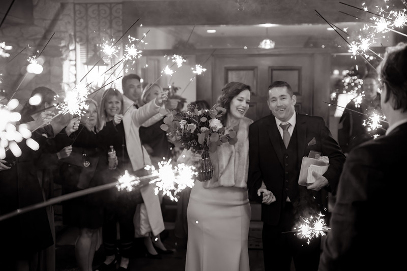 The Sparkler Exit (b&w)