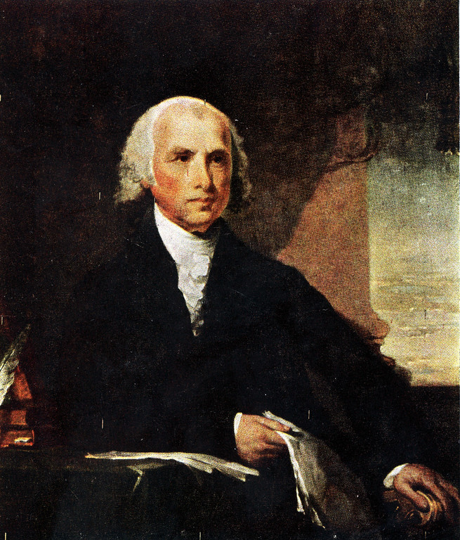 . This is an undated photo of a portrait of U.S. President James Madison by artist Gilbert Stuart.  (AP Phtoo)