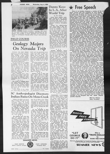 Summer News, Vol. 9, No. 13, August 04, 1954