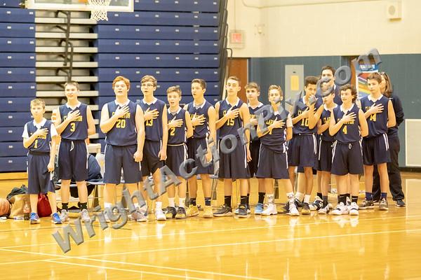 2019 02 04 CJHS 8th Grade Blue vs Gold Basketball