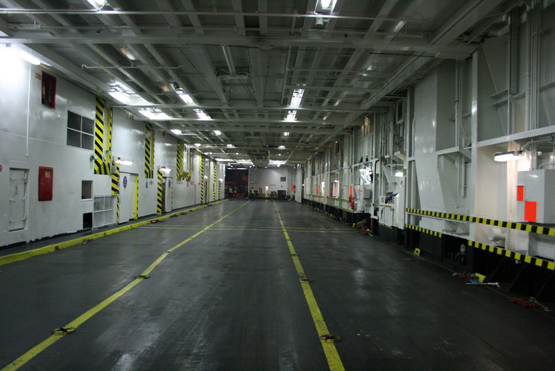 2008 - On board F/B SNAV TOSCANA : main garage deck.