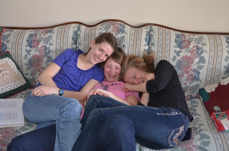 New Years Day.  Merissa, Kendra, Emilie