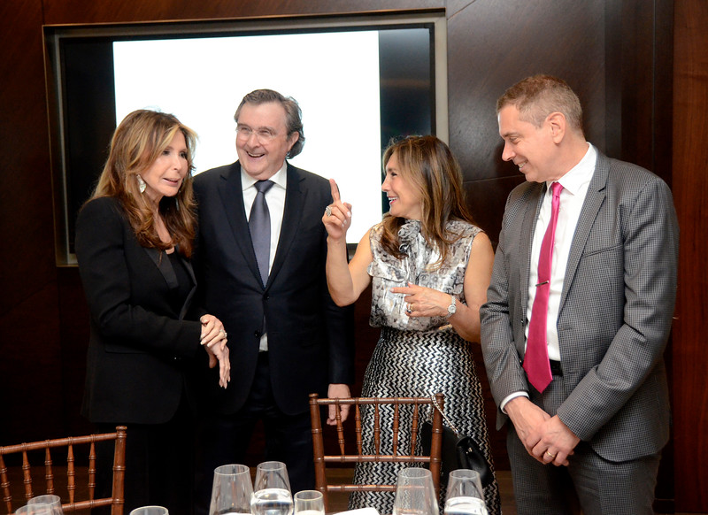 Cheri Kaufman, Bill Sclight, Maria Fishel, Kenneth Fishel AVENUE MAGAZINE Presents the SALON DINNER & CONVERSATION about PUBLIC ART Featuring YVONNE FORCE VILLAREAL 10 Hudson Yards NYC, USA - 2017.04.06 Credit: Lukas Greyson