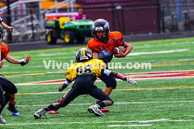 Youth Football: AYFL B-Broncos vs. B-Steelers 09.09.2017 (by Al Shipman)