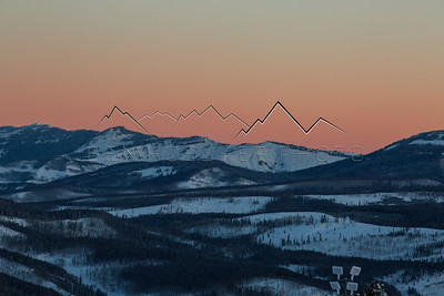Alpenglow in the Gore Range, CO