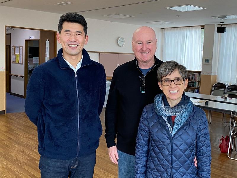 Rev. Yukimasa Otomo with Joe and Silk