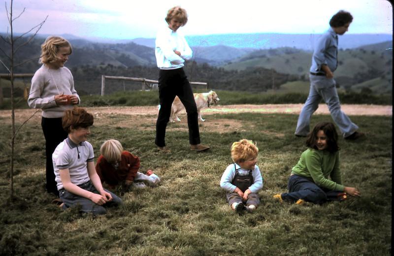 1973-9 (3) Susan 8 year 2 mths, David 9 yrs 9 mths, Andrew 4 yrs 1 mth, Allen 2 yrs 4  mths wit Mrs Grosby, Kelly & Natalie.JPG