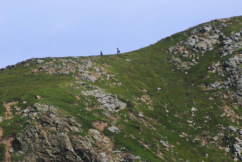 """Randonneurs sur le sentier """"Skyline"""" - Parc national des Hautes-Terres du Cap Breton"""
