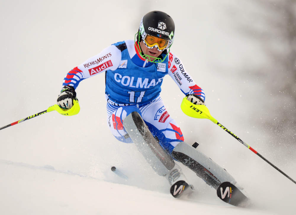 . France\'s Alexis Pinturault competes in the first run of FIS World Cup men\'s slalom on December 8, 2012 in Val d\'Isere, French Alps.     AFP PHOTO/PHILIPPE DESMAZES/AFP/Getty Images