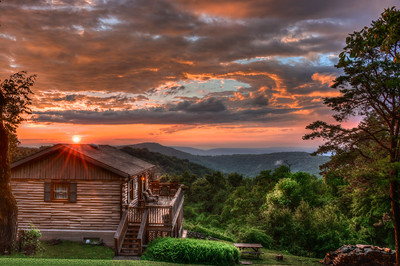 Cabin in the Blue Ridge Mountains