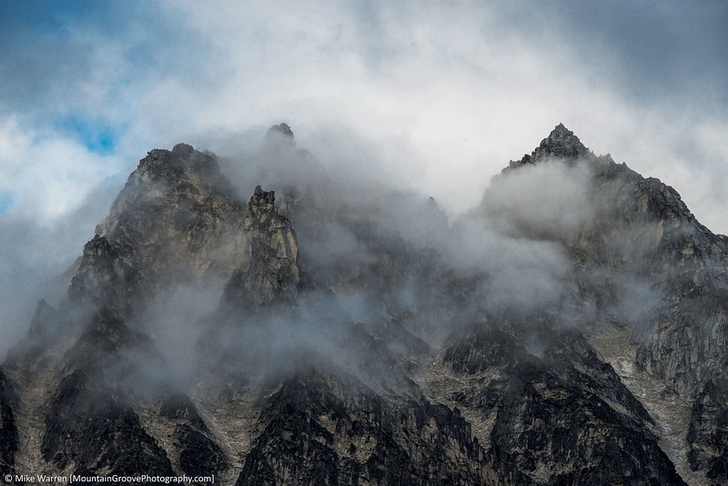 Mt Stuart summit in the clouds
