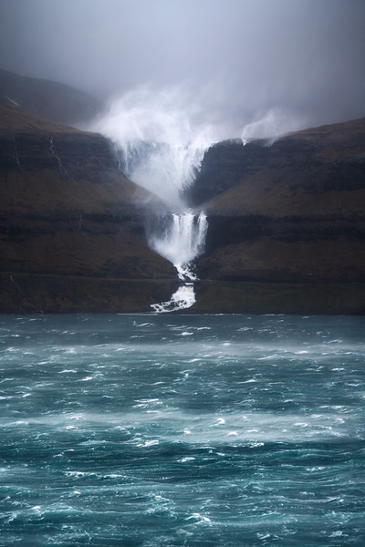 Fossa Streymoy landscape photography faroe islands wind waterfall storm.jpg