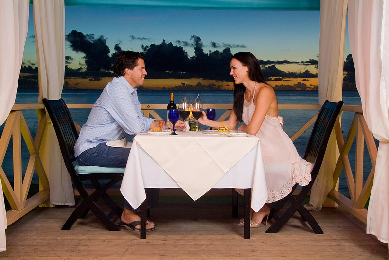 Seaside dining in Barbados