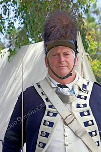 Pictures of Historical Re-Enactors of American Revolutionary War Continental Army Soldiers