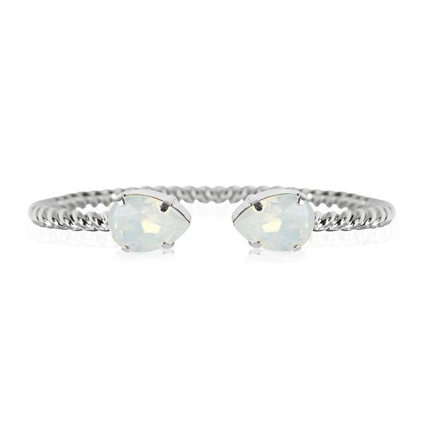Mini Drop Bracelet / White Opal Rhodium