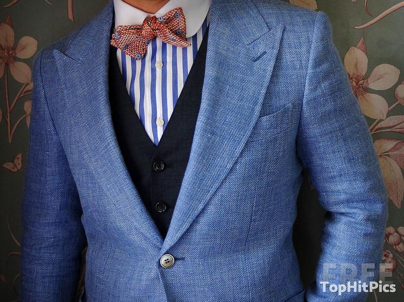 Men's Three Piece Wedding Suit with Bowtie