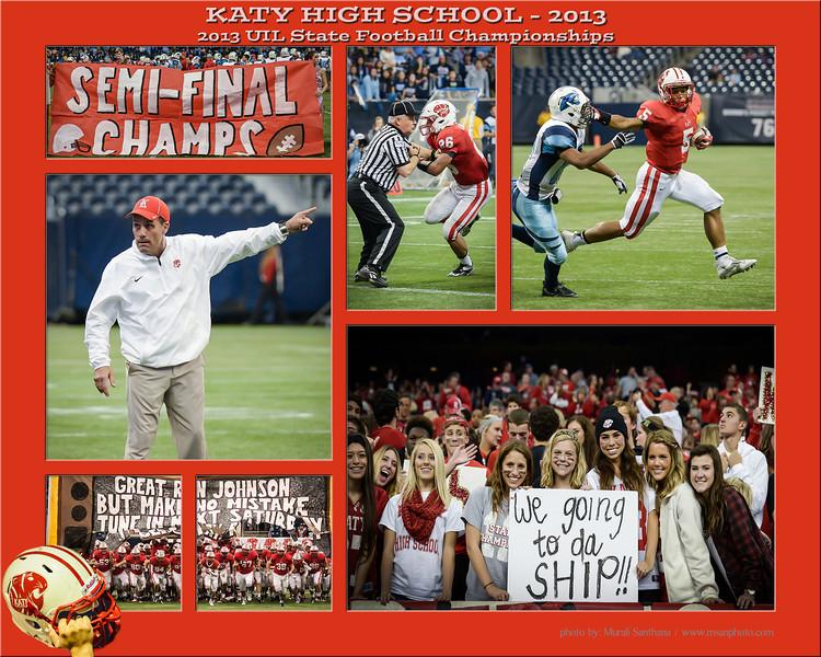 12-14-2013 - 2013 UIL State Football Championships - SemiFinals - Katy Tigers Team VS San Antonio Johnson