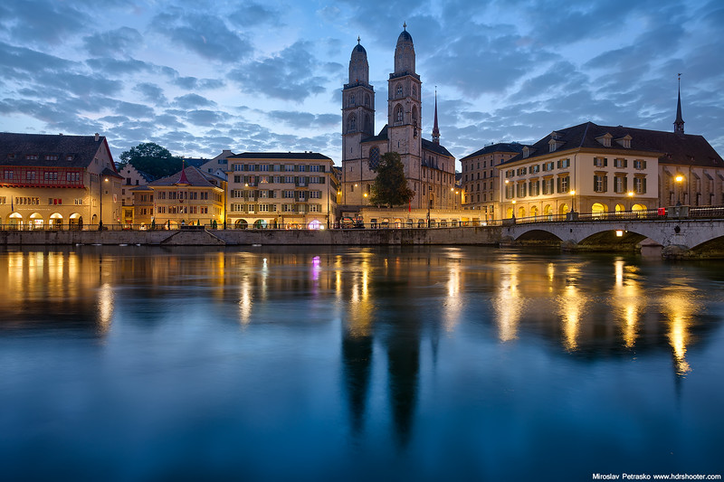 Before sunrise in Zurich